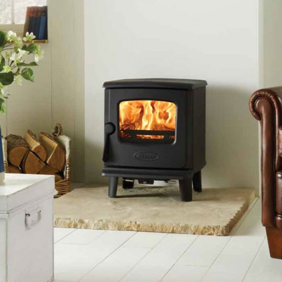 Dovre 225 Traditional Wood & Multi-Fuel Stoves-Anthracite