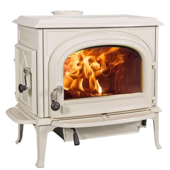 Jotul F500  Wood Burning Stove IVORY ENAMEL - CLEAR DOOR